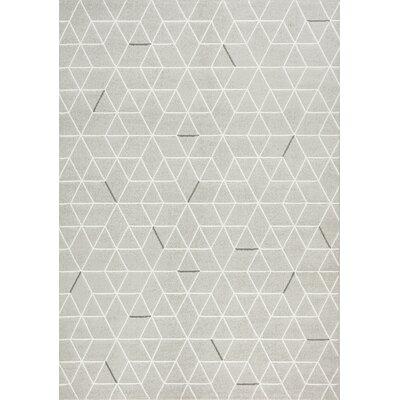 Montgomery Geometric Gray Area Rug Rug Size: 53 x 77