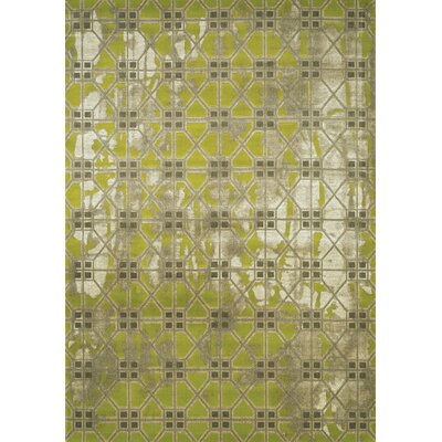 Coppinger Tile Texture Green/Gray Area Rug