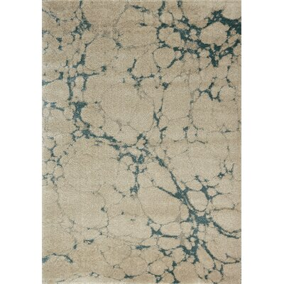 Coppedge Light Clouds Beige Area Rug Rug Size: 53 x 77