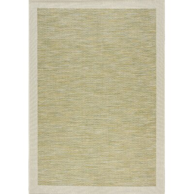 Moises Border Flatweave Green/Beige Indoor/Outdoor Area Rug Rug Size: 7'10