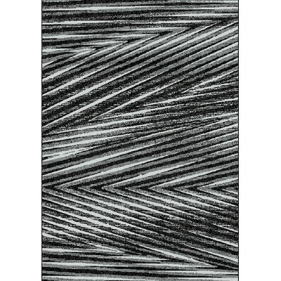 Barcia Palm Leaf Charcoal/Gray Area Rug Rug Size: 710 x 1010