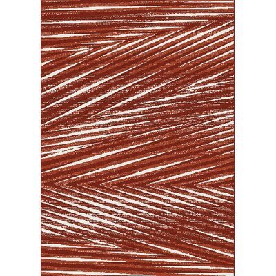 Coppedge Palm Leaf Red Area Rug Rug Size: 710 x 1010