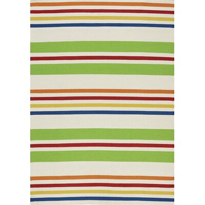 Ashlee Stripes Flatweave Indoor/Outdoor Area Rug Rug Size: 710 x 106