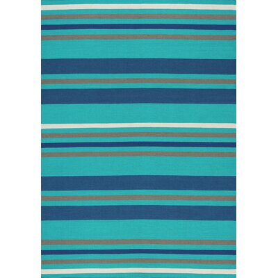 Ashlee Stripes Flatweave Blue/Navy Indoor/Outdoor Area Rug Rug Size: 710 x 106