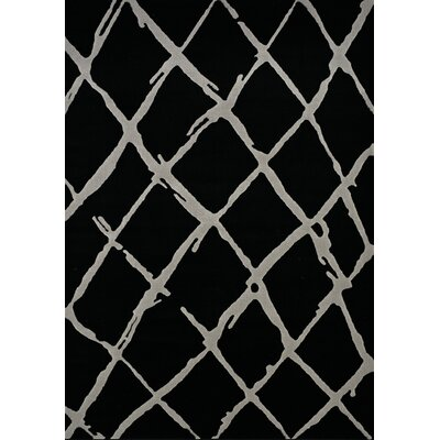 Hardwick Pen Stroke Diamond Black/Gray Area Rug Rug Size: 710 x 106