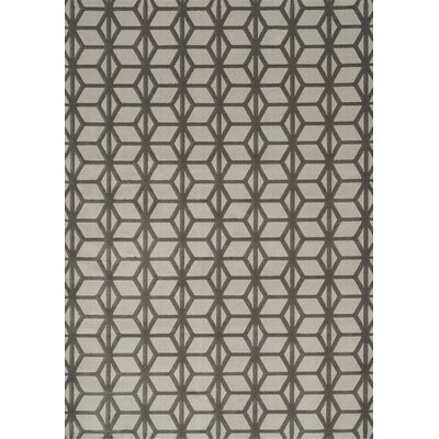 Ancram Parallelogram Column Charcoal Area Rug Rug Size: 53 x 77