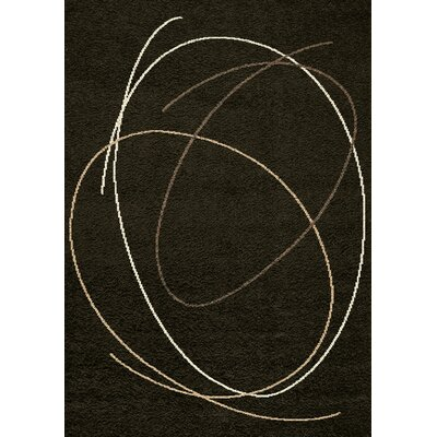 Rundey Scribble Brown Area Rug Rug Size: 710 x 1010
