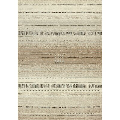 Flores Stripes Cream Area Rug Rug Size: 710 x 106