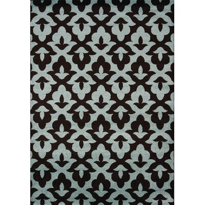 Rochers Geometric Lilypad Brown/Blue Area Rug Rug Size: 710 x 106