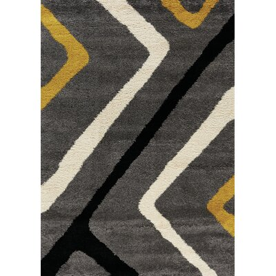 Delgadillo Diamond Corners Soft Touch Gray Area Rug Rug Size: 710 x 1010