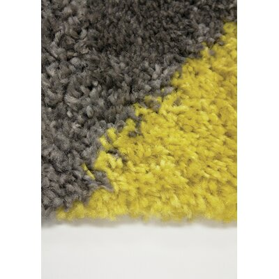 Delgadillo Diamond Corners Soft Touch Gray Area Rug Rug Size: Rectangle 53 x 77