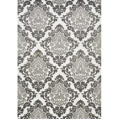 Anara Ornamental Diamond White/Gray Area Rug Rug Size: 28 x 411