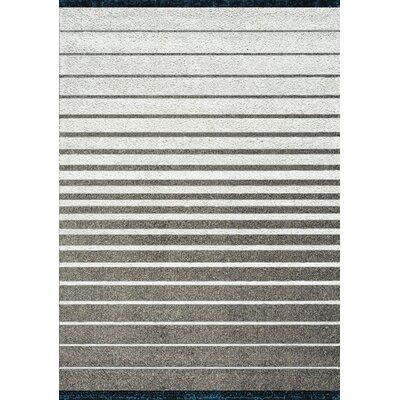 Winston Stripes Glitz Low Pile Gray/Taupe Shag Area Rug Rug Size: 710 x 1010