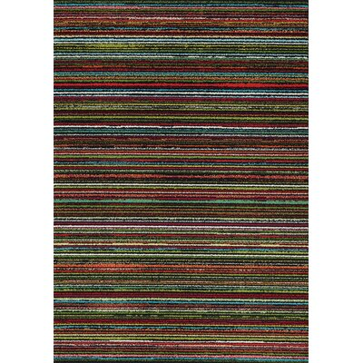 Tania Stripes Area Rug Rug Size: 53 x 77