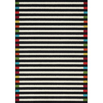 Burchell Edges Cream/Black Area Rug