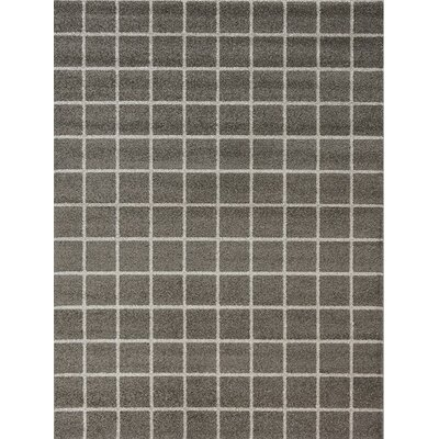 Lewisboro Tile Brown/Gray Area Rug Rug Size: 53 x 77