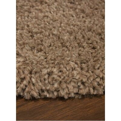 Jannie Solid Tan Soft Touch Brown Area Rug Rug Size: 710 x 1010