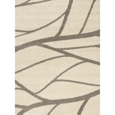 Rundey Tree Branch Taupe Area Rug Rug Size: 53 x 77