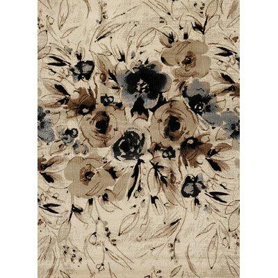 Louisa Rose Cream & Beige Area Rug Rug Size: 710 x 106