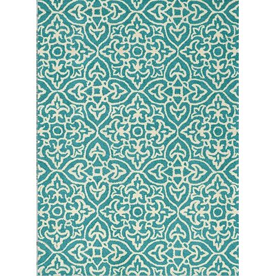 Burchill White/Blue Area Rug Rug Size: 710 x 106