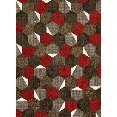 Mucklen Honeycomb Area Rug Rug Size: 53 x 77