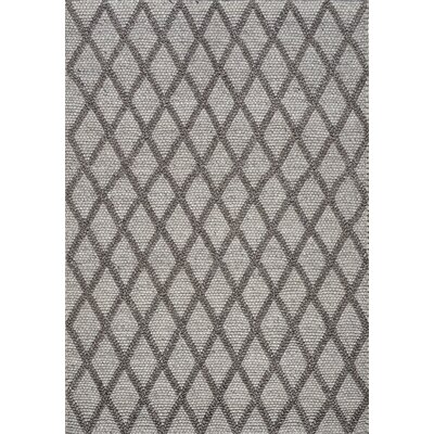 Alpine Hand-Woven Gray Area Rug Rug Size: 53 x 77