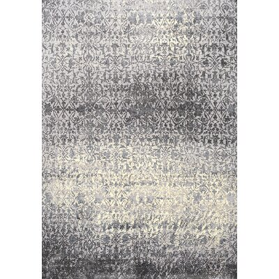 Antika Cream/Gray Area Rug Rug Size: 57 x 710