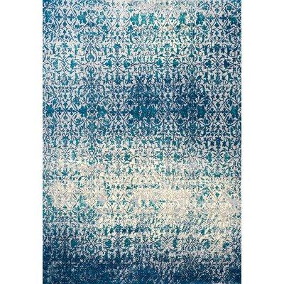 Antika Blue Area Rug Rug Size: 6'7