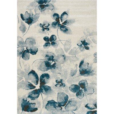 Montrose Cream/Blue Area Rug Rug Size: 710 x 106