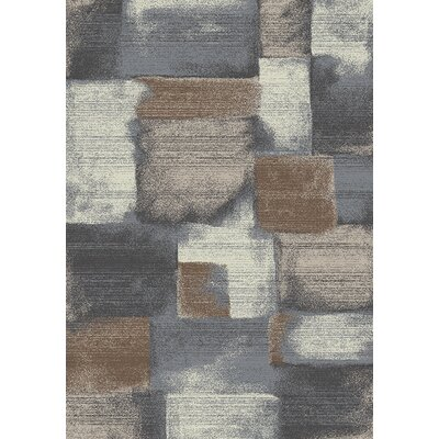 Esqueda Grey/Brown Area Rug Rug Size: 53 x 77