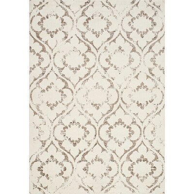 Poston Cream/Taupe Area Rug Rug Size: 710 x 1010