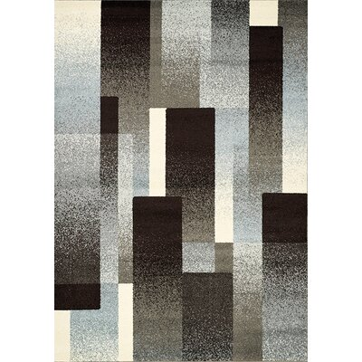 Britton Brown/Grey Area Rug Rug Size: 53 x 77