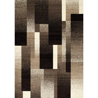 Britton Brown/Tan Area Rug Rug Size: 53 x 77