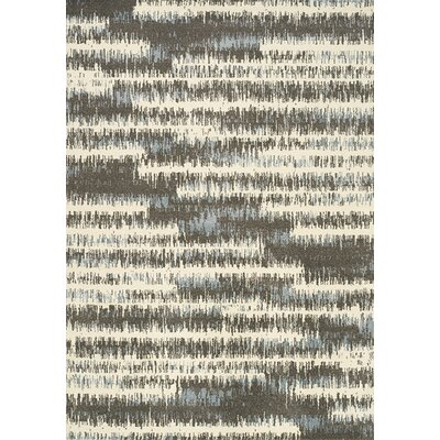 Britton Cream/Grey Area Rug Rug Size: Rectangle 53 x 77