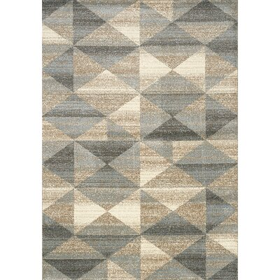 Casa Grey/Taupe Area Rug Rug Size: Rectangle 53 x 77