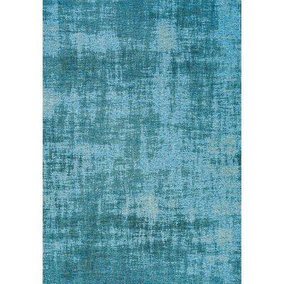 Brodsky Blue Area Rug Rug Size: 51 x 77