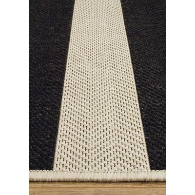 Pawling Black/Cream Area Rug Rug Size: 53 x 77