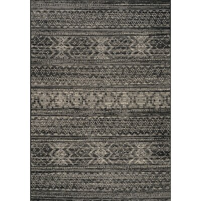 Danica Black/Cream Area Rug Rug Size: 28 x 411