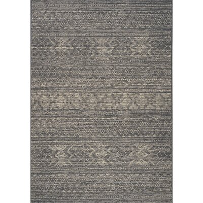 Danica Gray/Cream Area Rug Rug Size: 28 x 411