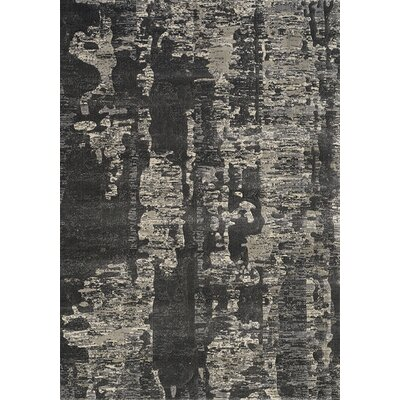 Clarke Tree Bark Charcoal/Beige Area Rug Rug Size: 53 x 77