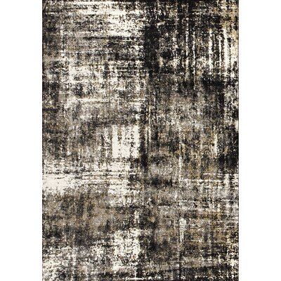 Baltic Brown/White Area Rug Rug Size: 53 x 77