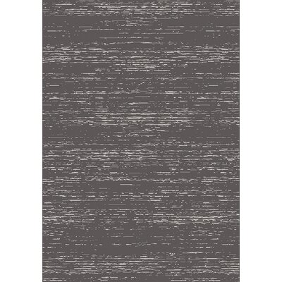 Clara Charcoal/Cream Area Rug Rug Size: 53 x 77