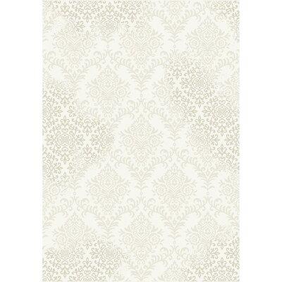 Pottorff Cream/Beige Area Rug Rug Size: 53 x 77