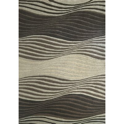 Este Gray/Black Area Rug Rug Size: 53 x 77