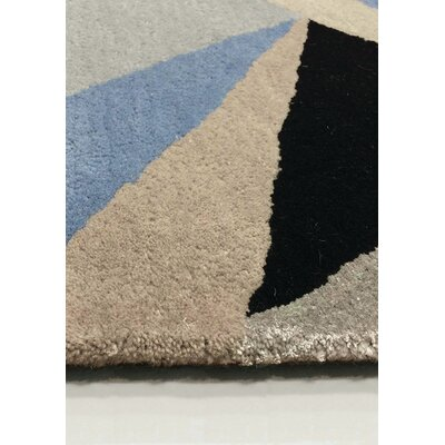 Bundella Triangle Gray/Blue Area Rug Rug Size: Rectangle 710 x 106