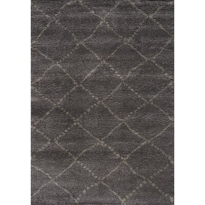 Jannie Charcoal/Light Gray Area Rug Rug Size: 53 x 77