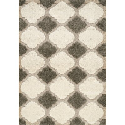 Besser Gray/Cream Area Rug Rug Size: Rectangle 7'10