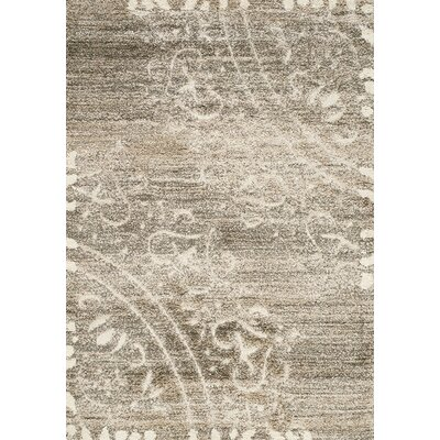 Besser Taupe/Cream Area Rug Rug Size: Rectangle 53 x 77