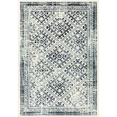 Konkana Cream/Gray Area Rug Rug Size: 53 x 77