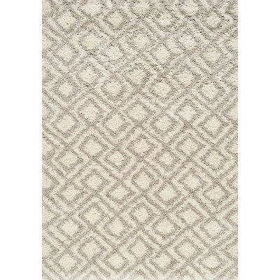 Balinda Beige/Cream Area Rug Rug Size: 53 x 77